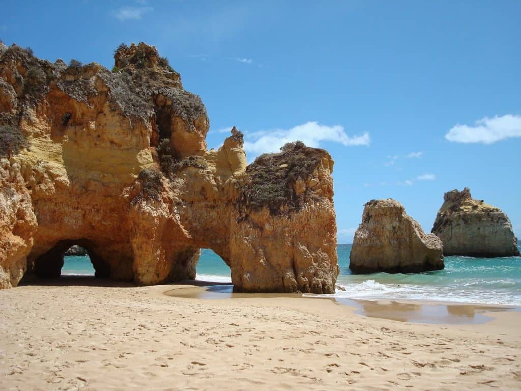 beaches of lagos portugal and Carvoeiro town
