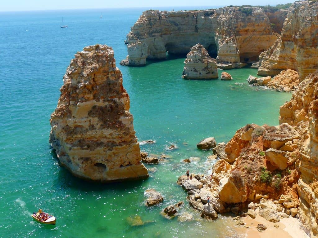beaches of lagos portugal near carveiro portugal