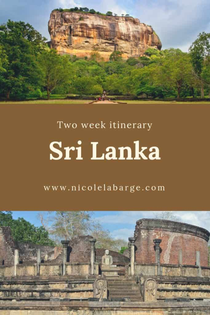 Two week itinerary Sri Lanka
