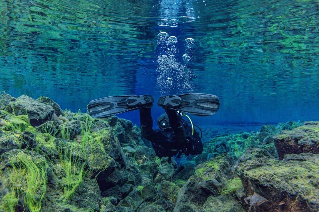 Snorkelling Silfra Fissure in Iceland in June