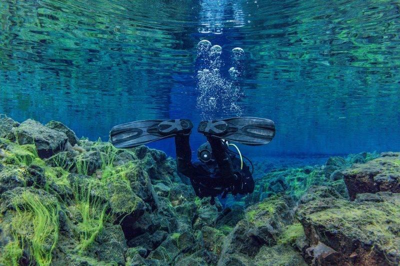 Snorkelling Silfra Fissure in Iceland in June