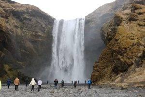 visiting iceland in winter skogafoss falls