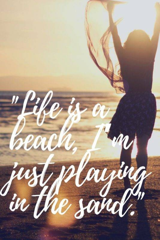 beach phrases and beach life quotes