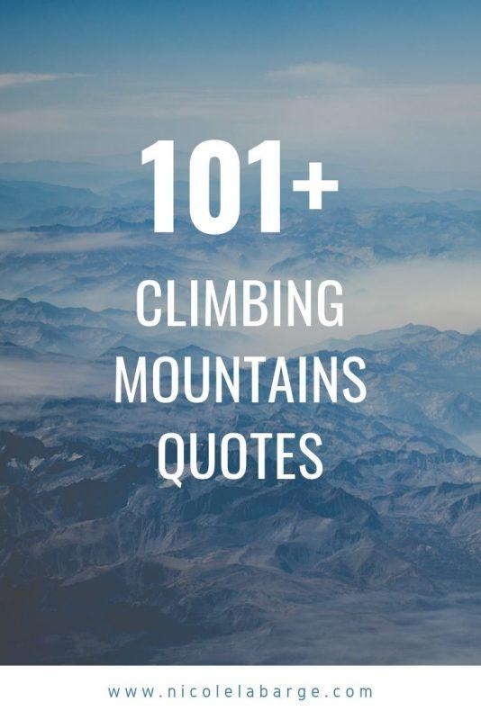 climbing mountain quotes