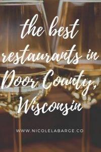 best restaurants door county fish creek restaurants
