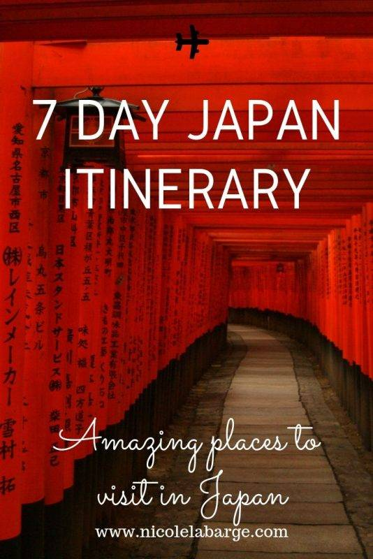 7 day Japan Itinerary