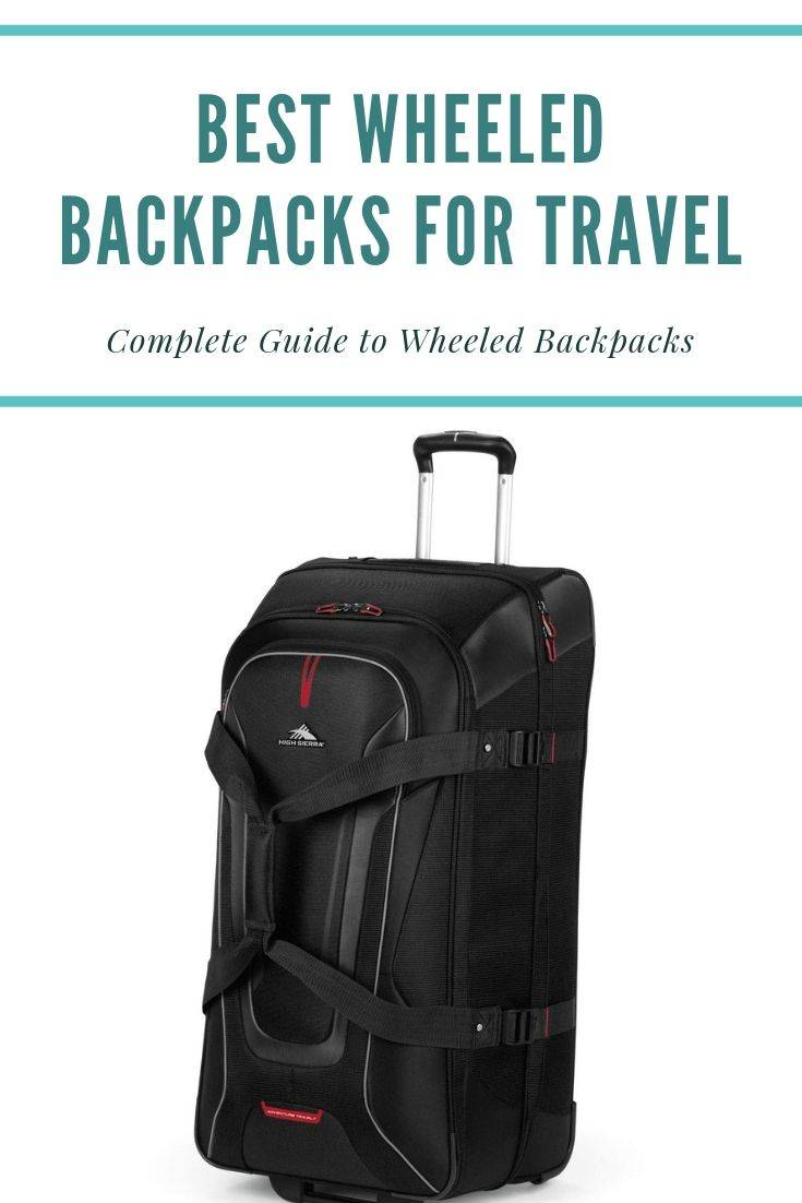 travel backpack with wheels